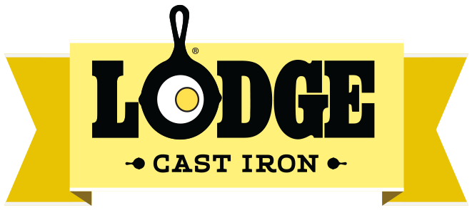 Lodge manufacturing logo in yellow